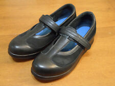 Drew Desiree Womens Shoes Black Leather Nubuck Comfort Mary Janes Size 10 N