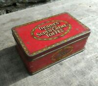 c1930's Vintage Collectable Thorne's of Leeds Toffee Small Tin - Hinged Lid