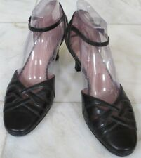 naturalizer Women black leather Shoes mary jane med heels Size 9 m