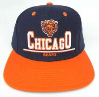 CHICAGO BEARS NFL VINTAGE SNAPBACK FLAT BILL 2-TONE CAP HAT NEW! 3D BLUE 7e77dafc2