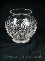 Crystal Glass  Onion Shaped Bon Bon Vase Cross Cut