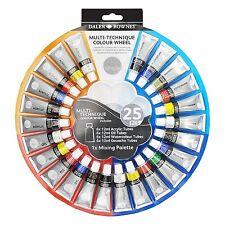 Daler Rowney tecnica mista Colore Ruota Set Di 24, olio di vernice acrilica, Acquerello