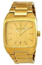 Nixon The Manual Square 38mm Gold Steel 100M Men's Watch A2441502 A244-1502 SD