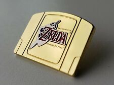 Legend Of Zelda Ocarina of Time Gold Cart Lapel Pin N64 Enamel Badge Nintendo