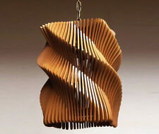 Helix Wave Pendant Light (Brown) Chandelier Hanging Ceiling Light Contemporary