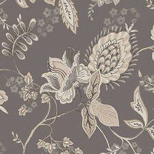 Modern Jacobean on Gray Wallpaper Double Roll Bolts FREE SHIPPING