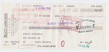 CHEQUE, CHECK ITALY BANCO DI SICILIA, BRILL LION NOIR S.A.L.C.I.M. 1966, VINTAGE
