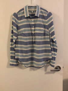 2 J. Crew Striped Shirts, Blue & Pink, Size 0
