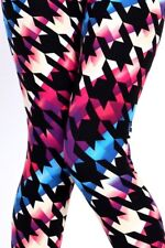 Women Leggings Multi Color Yoga Pants Stretch Exercise Summer Seamless One Size
