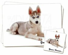 Husky 'Yours Forever' Twin 2x Placemats+2x Coasters Set in Gift Box, AD-H54YPC