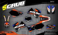 SCRUB KTM  SX SXf 125 250 380 400 520 1998-2000 Grafik Dekor-Set
