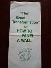"Vintage Pamphlet ""The Great Transformation"" or How to Panel a Wall Abitibi Corp"