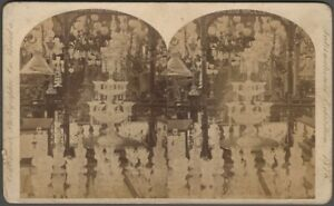 1876 Centennial Exhibition New England Glass Company Exhibit Stereoview