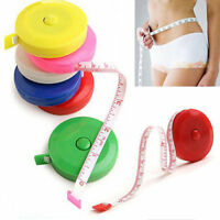 "1.5M 60"" Mini Soft Retractable Tape Measure Sewing Tailor Dieting Tapeline Ruler"