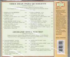 Tres Dias Para Quererte    Robame Esta Noche Comedias Musicales  BRAND NEW    CD