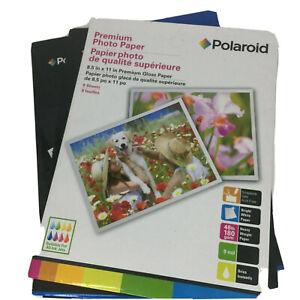 Lot Of Three Packs Of Polaroid Premium Gloss Photo Paper 8.5 x 11'' 24 Total New