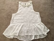 Beaded collar blouse Abercrombie & Fitch size S