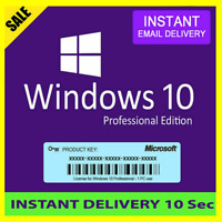 WINDOWS 10 PROFESSIONAL PRO 32/64 LIFETIME LICENSE KEY Quick DELIVERY 🔥