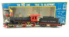 Vtg Ahm Ho 507 Virginia& 00004000 amp;Truckee 4-4-0 Reno Steam Locomotive & Tender ~Runs~ T123