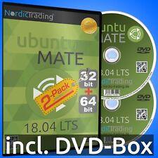 Ubuntu MATE 18.04.3 LTS 2-Pack (32+64bit) Linux Betriebssystem Markenware