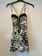 French Connection Camo Mini Size 10 Dress Flowers Front Zip