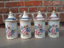 4  Porcelain French Apothecary Jars. Pagès Apothicaire à Rodez ( France)