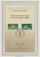 """Berlin MiNr 732-733 ETB 3-85 """"Sporthilfe 85"""" 60 Jahre Deutscher Tischtennis-Bund"""