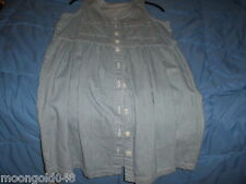 SLEEVELESS STRIPED A-LINE 10 BUTTON DOWN DRESS WITH BREAST POCKETS - SIZE 10