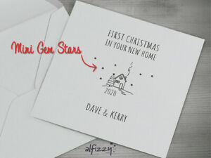 First Christmas in Your New Home - Personalised Xmas Card
