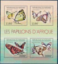 BURUNDI 2012 MNH 4v SS, Butterflies, Insects