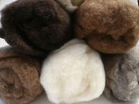 Heidifeathers® Carded British Wool Batts Soft Felting, Spinning Core Wool, Cloud