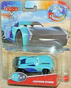 Disney Pixar Cars Color Changers JACKSON STORM 2 IN 1 Race Car Colour Change