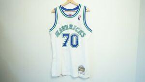 100% Authentic Dennis Rodman Dallas Mavericks Swingman Jersey Mitchell & Ness