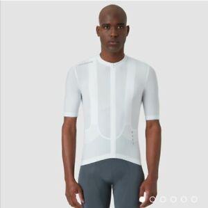 La Passione PSN Cycling Jersey, White, Men's Medium, NEW W/ TAGS