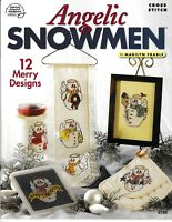 Angelic Snowmen Cross Stitch | American School of Needlework 3750 Winter NEW!