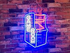 """New Game Room Beer Pub Real Glass Handcrafted Neon Light sign 17""""x14"""""""
