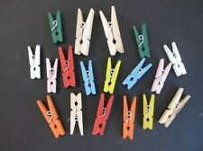 Mini Wooden Pegs, 8, 6 & 4 Piece Packs, 8 Colours, for Scrapbooking & Cardmaking