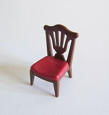 PLAYMOBIL (J2119) EPOQUE 1900 - Chaise Marron Assise Rouge Salle à Manger 5320