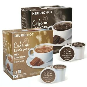 Café Escapes Dark Chocolate 16 K-Cups