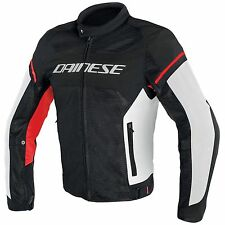 GIACCA DAINESE AIR FRAME D1 TEX  NERO/BIANCO/ROSSO TG.52
