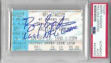 BARRY SANDERS Signed 1998 LAST NFL GAME Detroit LIONS 20 HOF TICKET Stub PSA/DNA