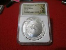 2017P Australia Silver $1 Kangaroo Ngc Ms 70 First Day of Issue #Mf-T3675