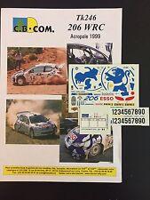 DECALS 1/43 PEUGEOT 206 WRC GRONHOLM RALLYE ACROPOLE 1999 GRECE RALLY GREEK