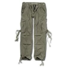 BRANDIT - M65 Ladies Pantaloni OLIVA cargo vintage cotone pelle da donna