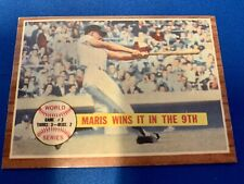 1962 TOPPS 1961 WORLD SERIES GAME 3 MARIS WINS IT IN THE 9TH BASEBALL CARD #234