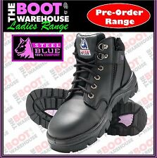 Steel Blue 'Parke's' 512758, Ladies Black Safety Lace-up & Zip, Ankle Boot