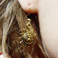 Golden Sun & Onyx Swarovski Bead earrings on Gold Filled French Hooks