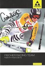 Autogramm AK Kathrin Hölzl Ski alpine Weltmeisterin 2009 Riesenslalom Fischer or