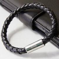 8mm hommes Véritable Cuir Tressé Bracelet/BRACELET
