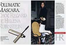 PUBLICITE ADVERTISING 054 1989 HELENA RUBINSTEIN maquillage mascara (2 pages)